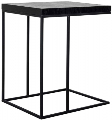 Oakura Black Oak Sofa Side Table
