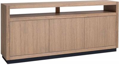 Oakura Soft Grey Oak 3 Door Sideboard
