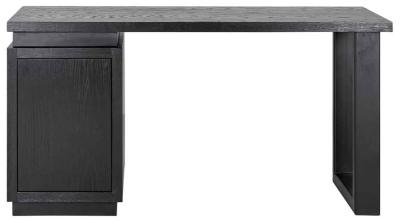 Oakura Black 1 Door Desk