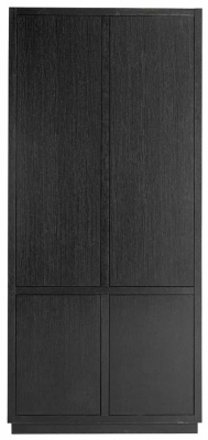 Oakura Black Oak 4 Door Wardrobe