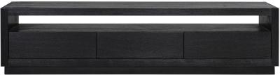 Oakura Black Oak 3 Drawer TV Cabinet