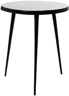 Luke Gold and Black Round Corner Table