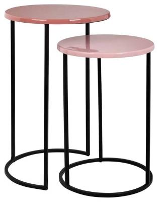 Yoke Round Side Table (Set of 2)