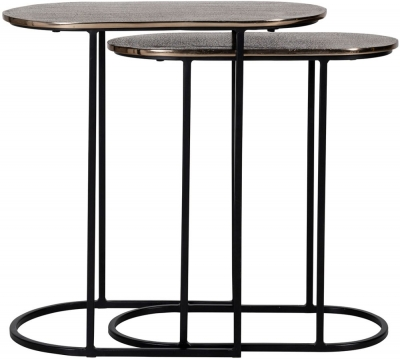 Chandon Aluminum Oval Side Table (Set of 2)