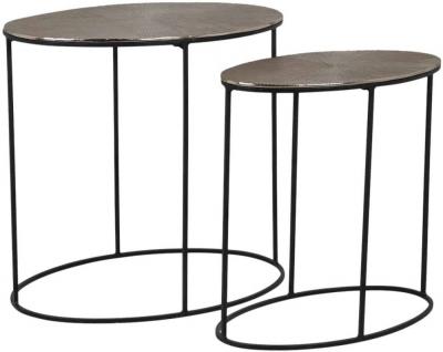 Jude Aluminium Oval Side Table (Set of 2)