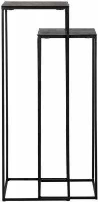 Bollard Black Pillar (Set of 2)