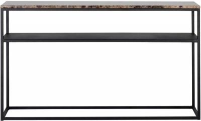Orion Brown Emparador Marble Console Table