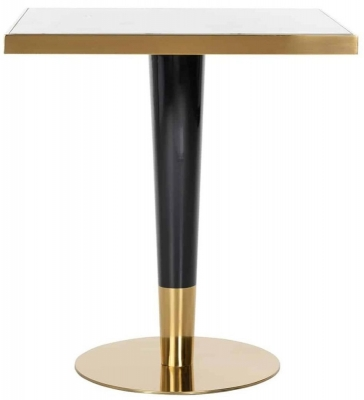 Osteria Faux Marble Square Bar Table
