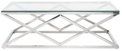 Paramount Glass Top Rectangular Coffee Table