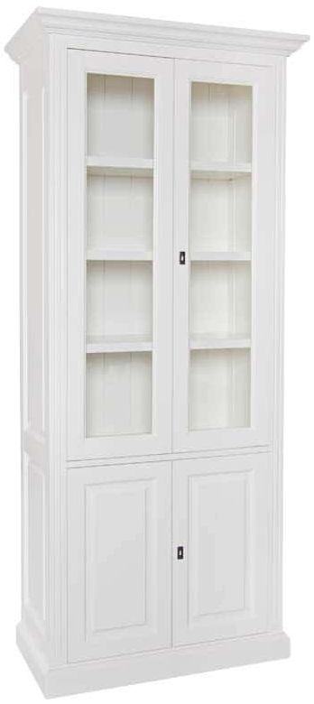 Provence Painted Display Cabinet - 4 Door 3 Shelves