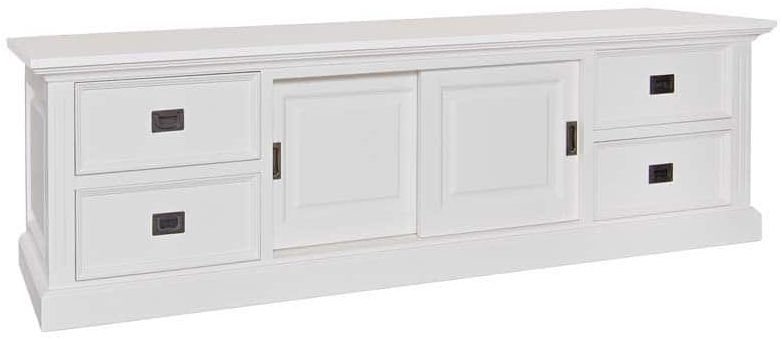 Provence Painted TV Unit - 2 Door 4 Drawer