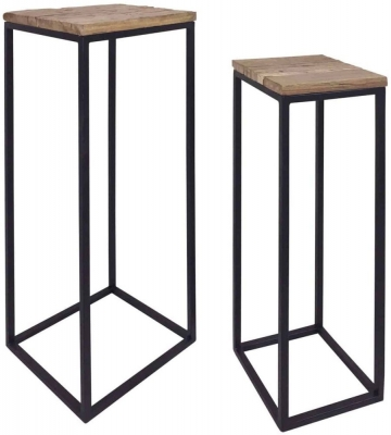 Raffles Recycled Wood Pillar (Set of 2)