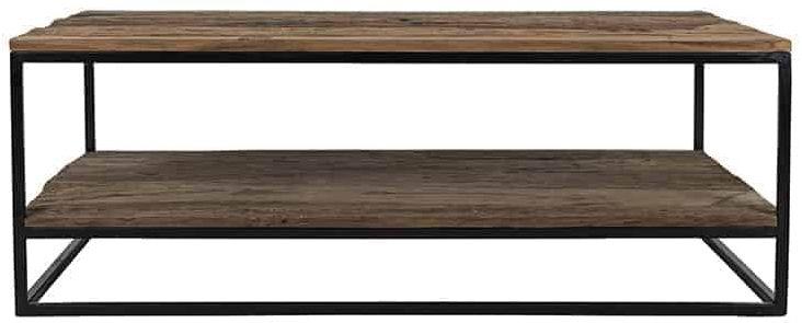 Raffles Wood and Iron Coffee Table