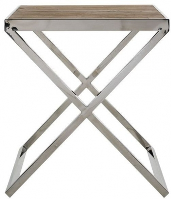 Redmond Natural Wood Square Side Table
