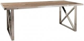 Redmond Elm Wood Dining Table with Cross Legs - 200cm