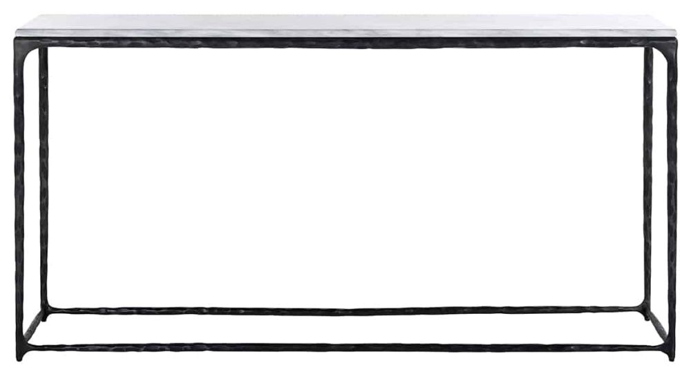 Steel Smith Marble and Black Console Table