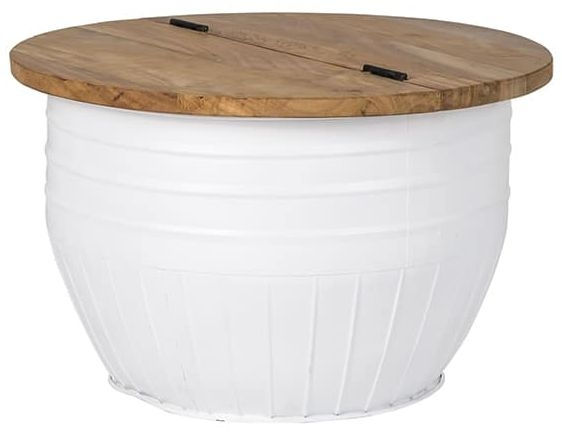 Marly Small Round White Coffee Table