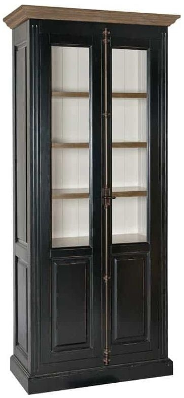 Manhattan Oak Display Cabinet with Espagnolette Lock - 2 Door