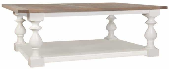 Versaille Coffee Table with Oak Top