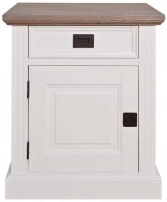 Westwood Oak and Painted 1 Left Door 1 Drawer Bedside Cabinet