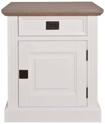 Westwood Oak and Painted 1 Right Door 1 Drawer Bedside Cabinet
