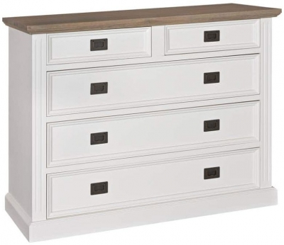 Westwood Oak and Painted 2+3 Drawer Chest
