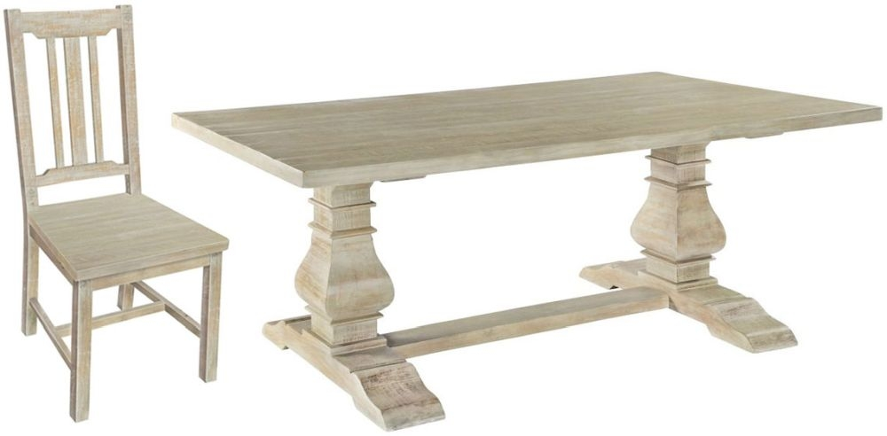 Rowico Bowood Day Refectory Dining Table and 6 Chairs