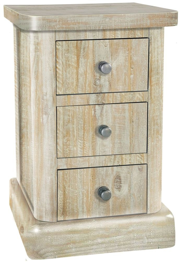 Rowico Bowood Day 3 Drawer Bedside Cabinet