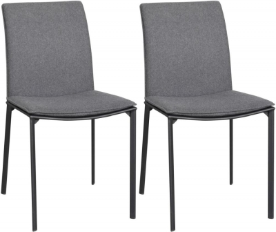 Rowico Pepe Fabric Dining Chair - Charcoal