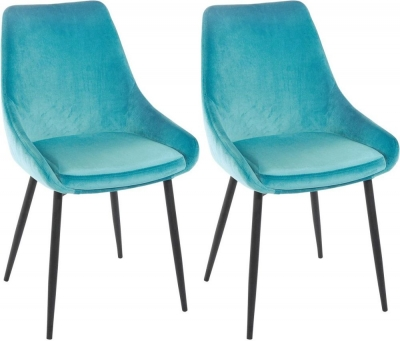 Rowico Sierra Fabric Dining Chair - Turquoise