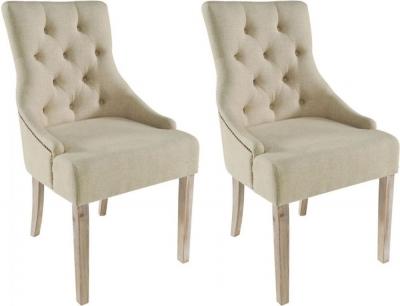 Rowico Stella Fabric Dining Chair (Pair) - Cream