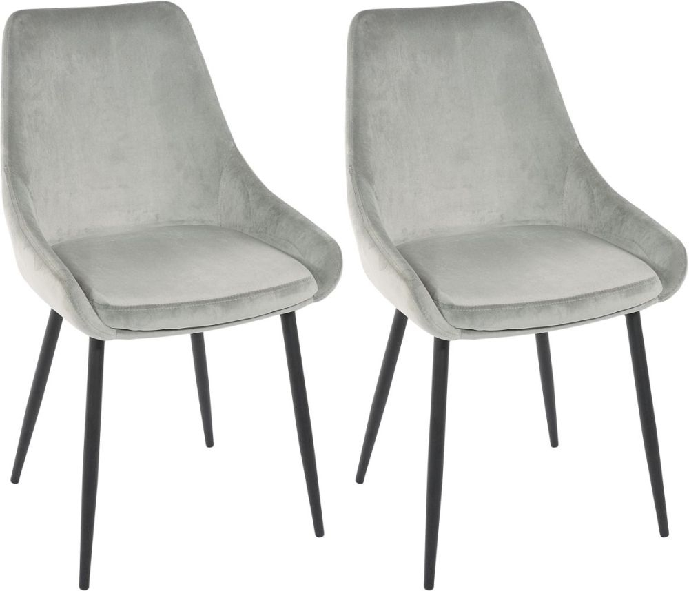 Rowico Sierra Fabric Dining Chair - Grey
