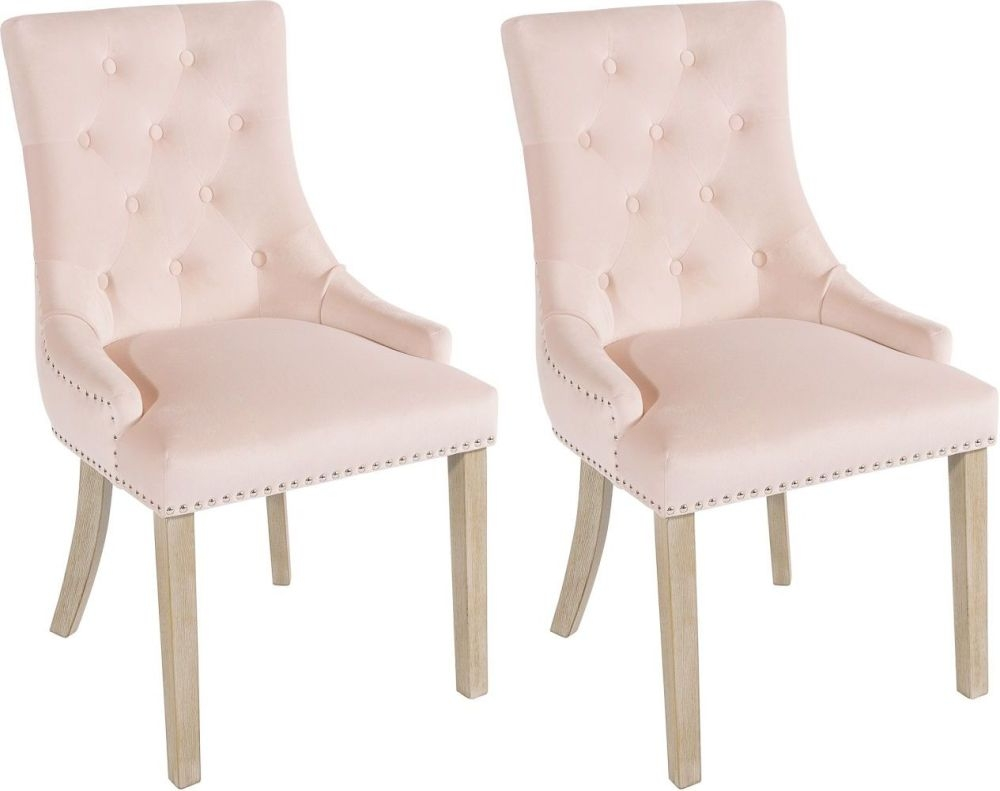 Rowico Vicky Fabric Dining Chair - Pink