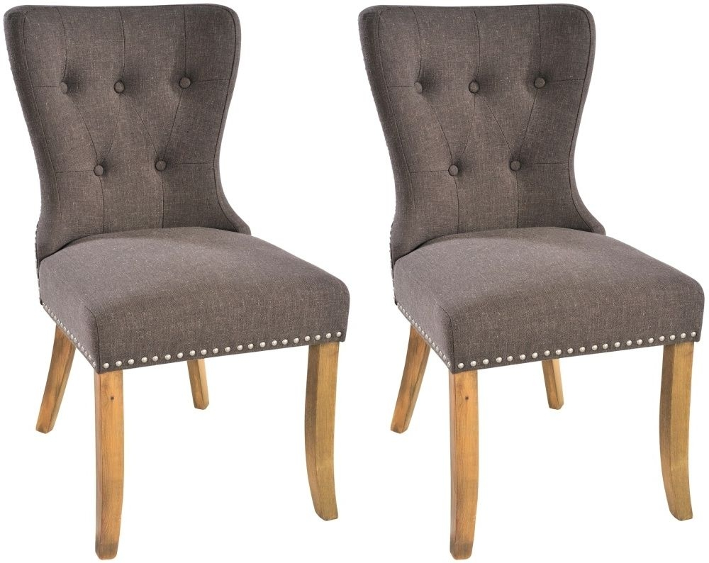 Rowico Adele Fabric Dining Chair (Pair) - Tiara Grey