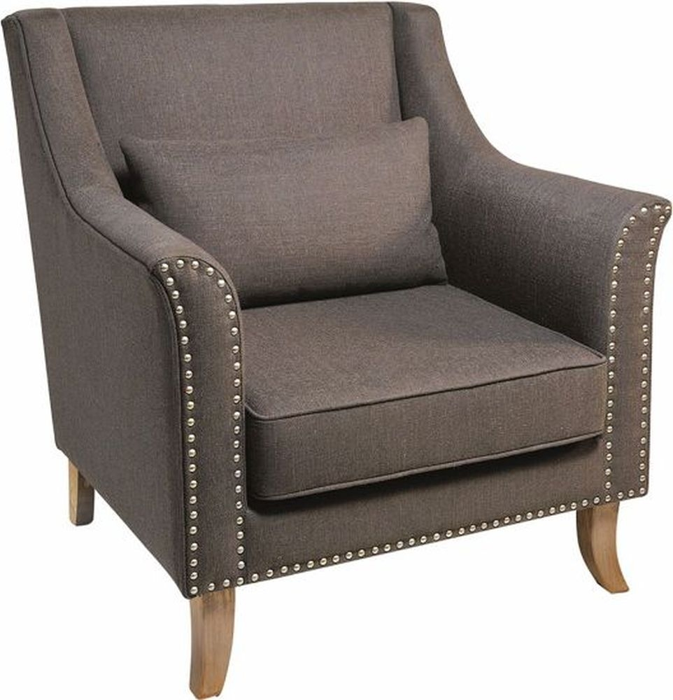Rowico Adele Fabric Armchair - Grey