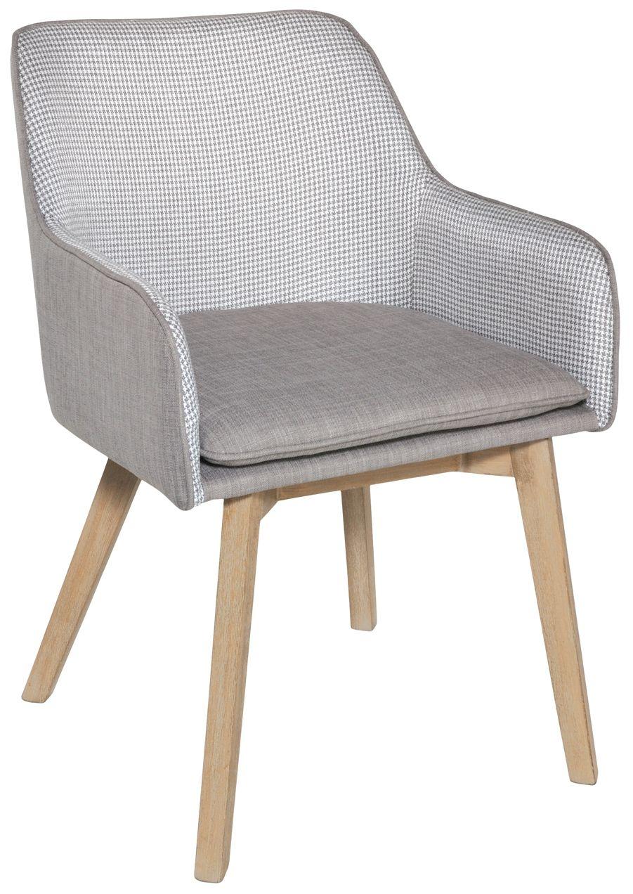 Rowico Louise Fabric Chair - Grey