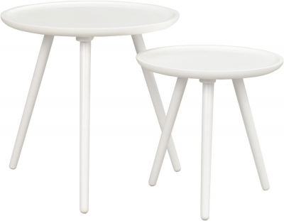 Rowico Daisy White Nest of 2 Table