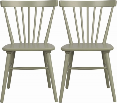 Rowico Akita Green Dining Chair (Pair)