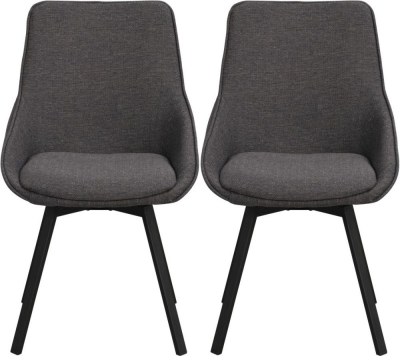 Rowico Alison Grey and Black Dining Chair (Pair)