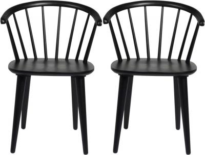 Rowico Carmen Black Dining Chair (Pair)
