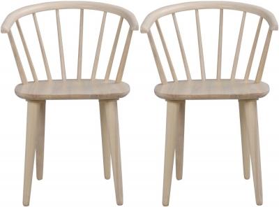 Rowico Carmen Whitewash Dining Chair (Pair)