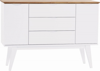 Rowico Filippa White and Oak Sideboard