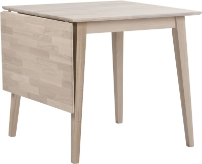 Rowico Filippa Whitewash Drop Leaf Dining Table