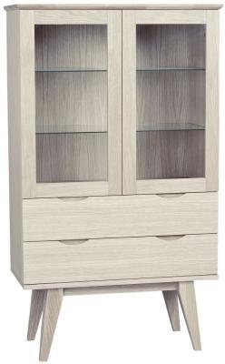 Rowico Filippa Whitewash Glass Display Cabinet