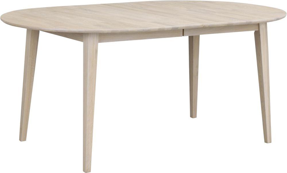 Rowico Filippa Whitewash Extending Oval Dining Table