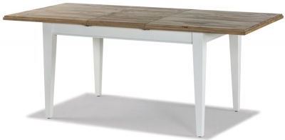 Rowico Lulworth White Extending Dining Table