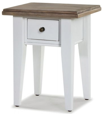 Rowico Lulworth White 1 Drawer Lamp Table