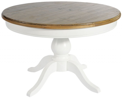 Rowico Lulworth White Round Dining Table