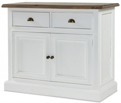 Rowico Lulworth White 2 Door 2 Drawer Sideboard