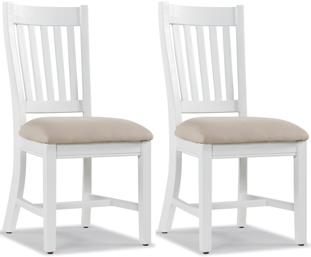 Rowico Lulworth White Slatted Dining Chair (Pair)